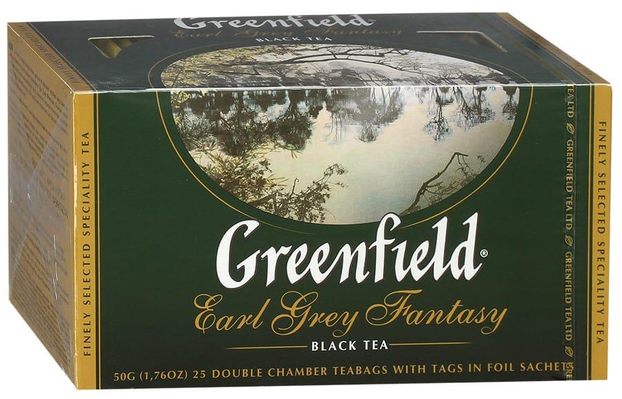 Черный крупнолистовой цейлонский чай Greenfield Earl Grey Fantasy