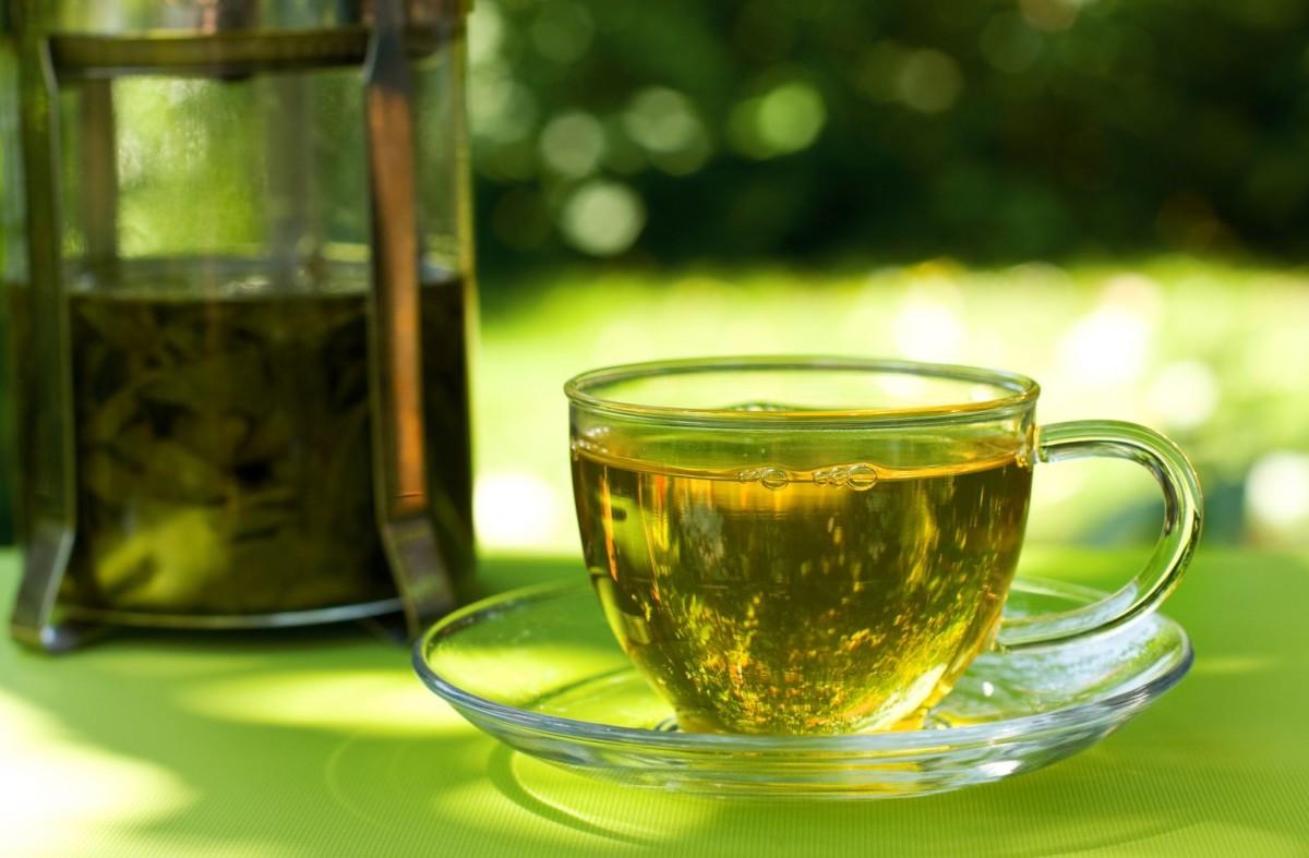 Зеленый чай с коньяком