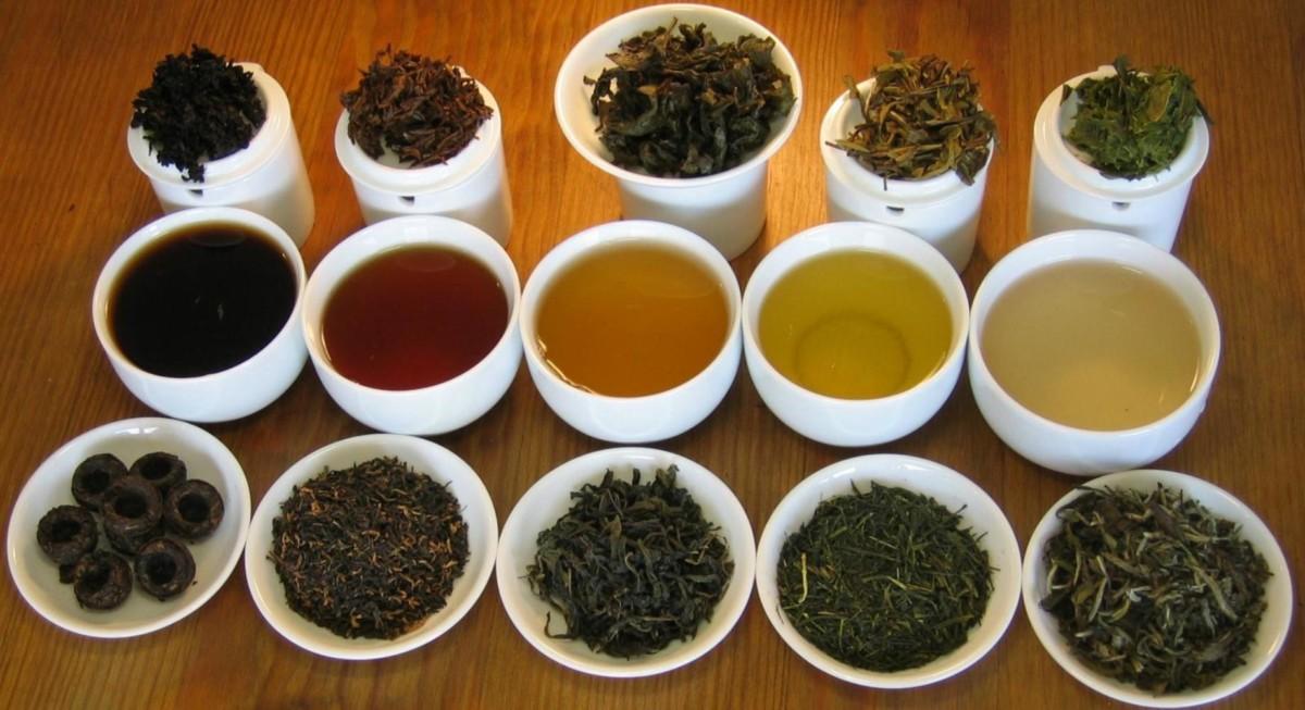 Разные виды ферментированного чая