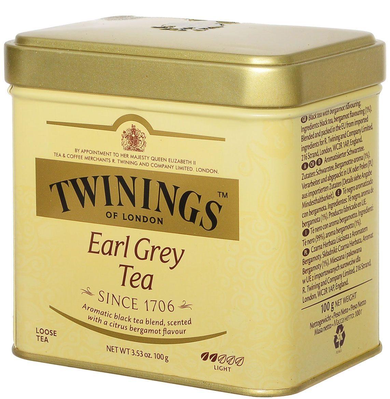 Чай Твинингз Эрл грей продается в жестяной банке