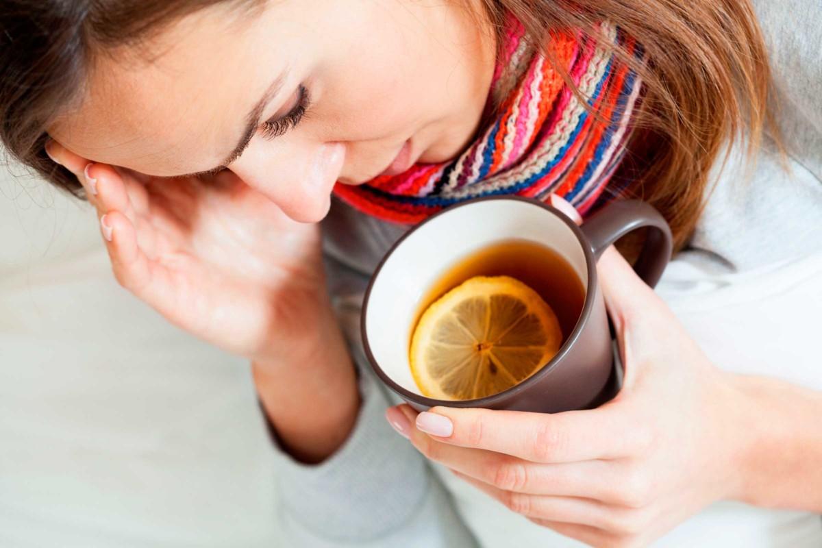 Черный чай при простуде