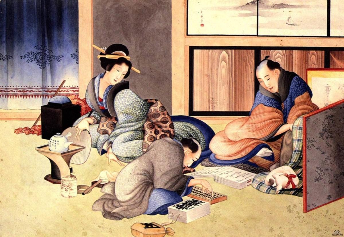 Старинный японский рисунок