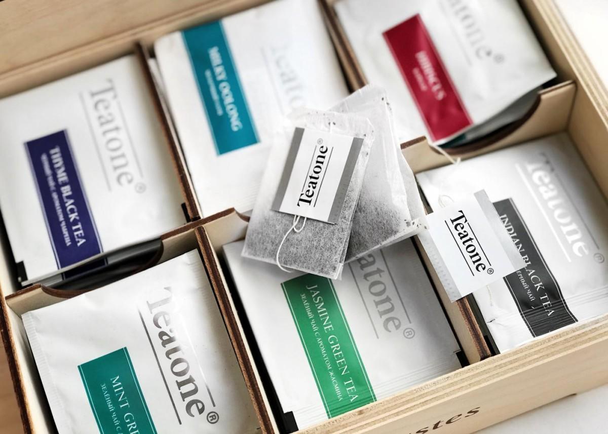 Коробка с чайными пакетиками