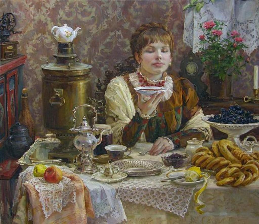 Если чашку ставили на блюдце, то это было знаком, что чая больше не нужно.