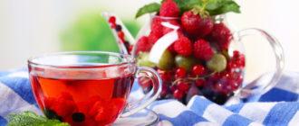 Чай с малиной
