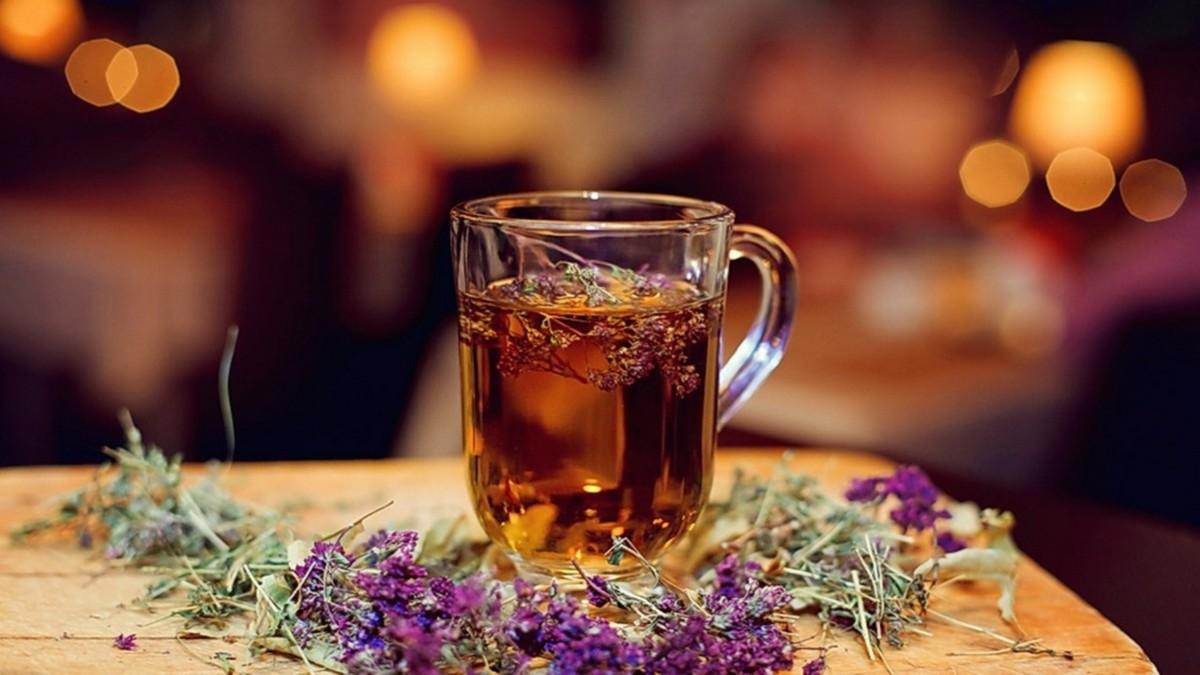 Обычный чай из травы