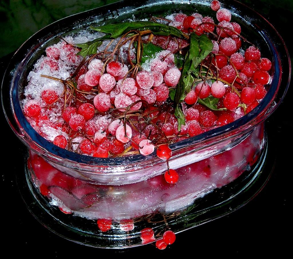 Предлагается заморозить калину, чтобы такой полезный продукт всегда был под рукой, ведь зимой её довольно сложно найти