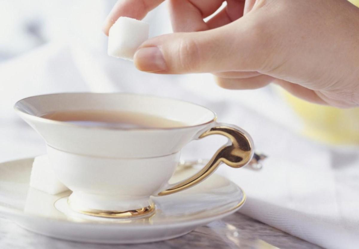 Красивая чашка с чаем