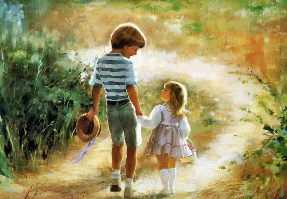 """Картина """"Мальчик и девочка"""""""