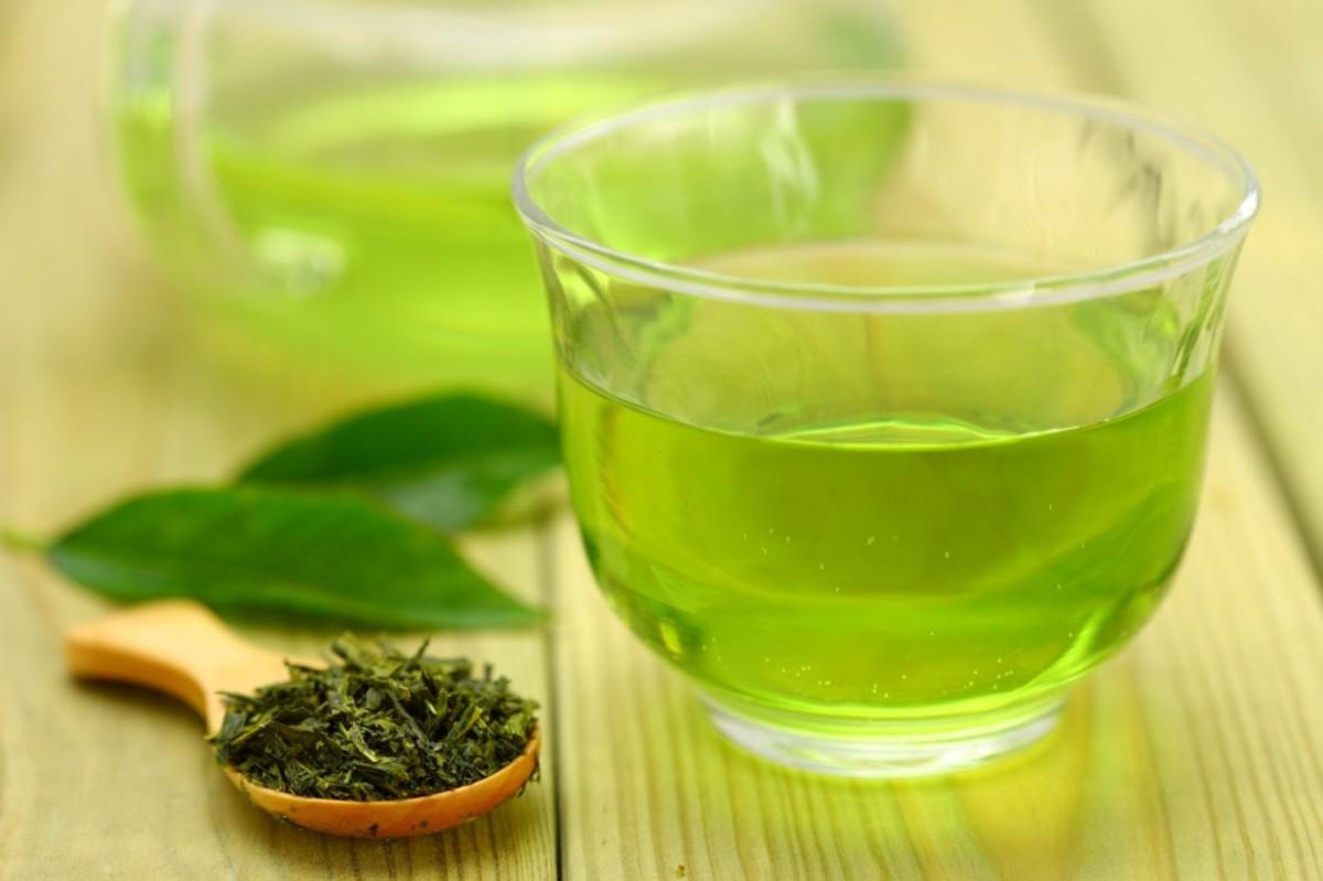Зеленый чай с плодом саусепа