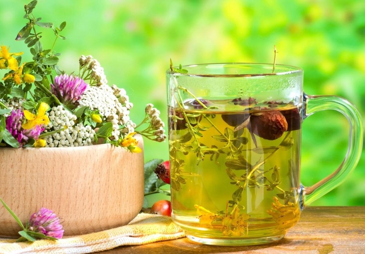 Чай с стеклянном стакане