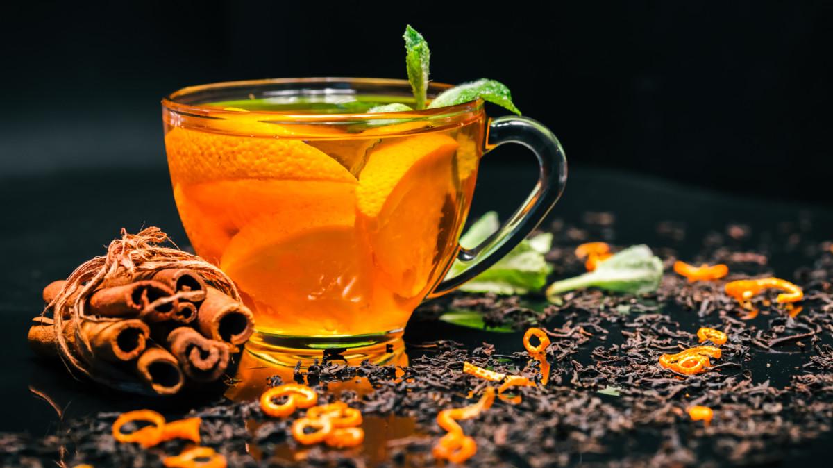 Чай с мандарином и коньяком