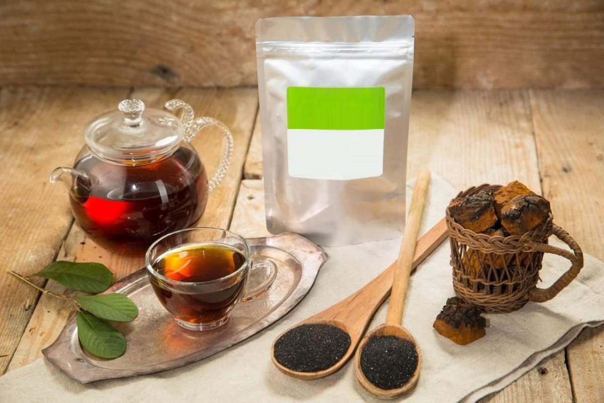 Заваривание чая из чаги