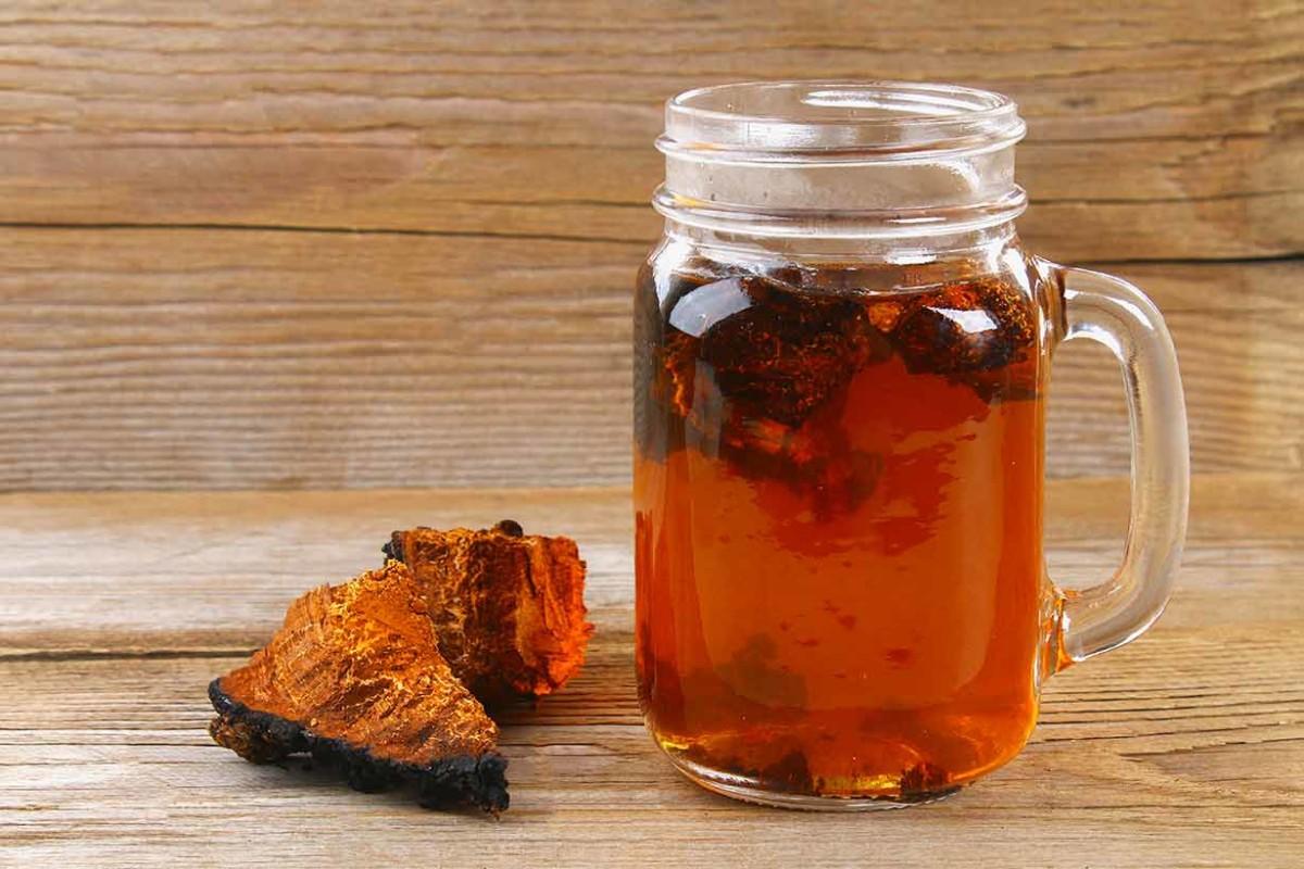 Заваривание чай из гриба чаги
