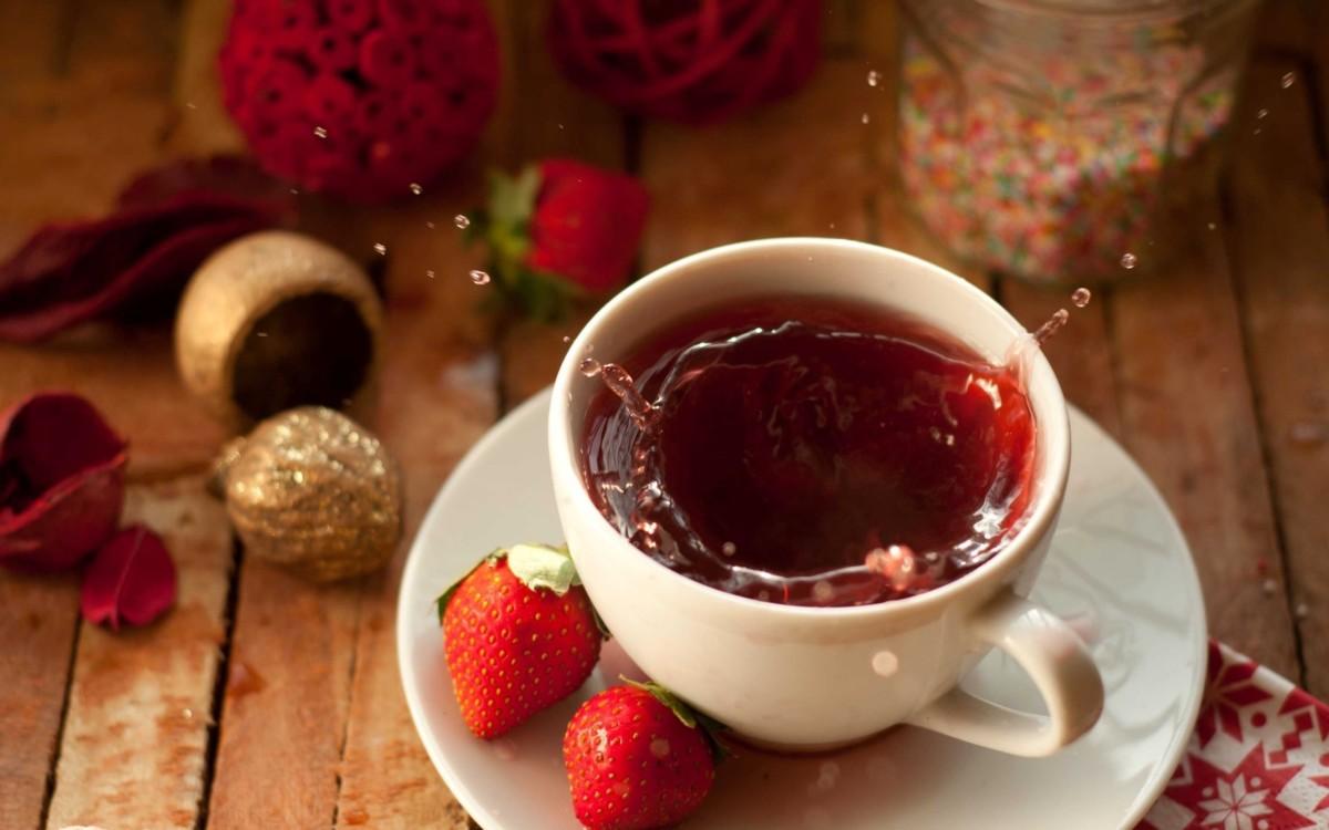 Чай клубничный