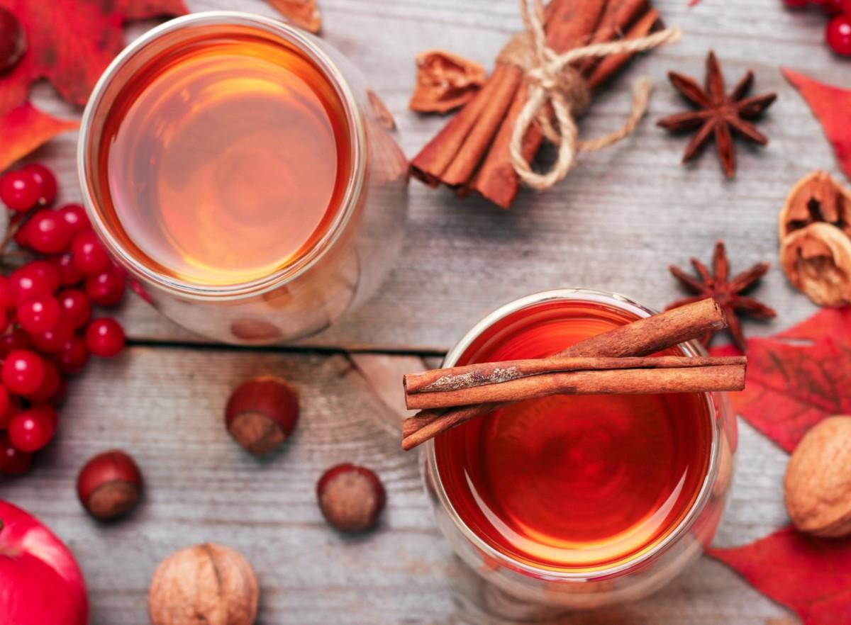 Зимой согреет теплый чай с корицей и анисом