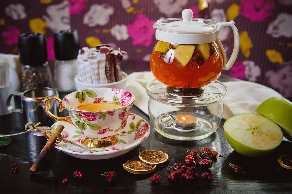 Отменными вкусовыми качествами отличается фруктовый чай с шиповником